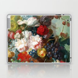 Fruit and Flowers in a Terracotta Vase by Jan van Os Laptop & iPad Skin