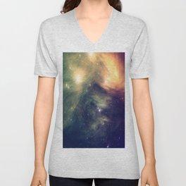 Galaxy: Pleiades Star Cluster neBULa Deep Pastels Unisex V-Neck