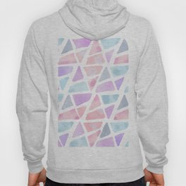 Blush Pink Lavender Watercolor Triangles Pattern Hoody