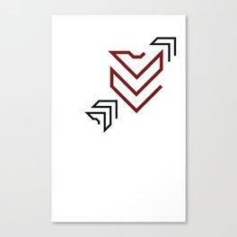 Arrow to your heart Canvas Print