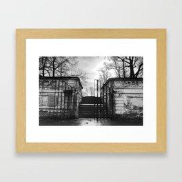 Krumlov Castle Garden Framed Art Print