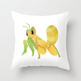 Orchid mantis Throw Pillow