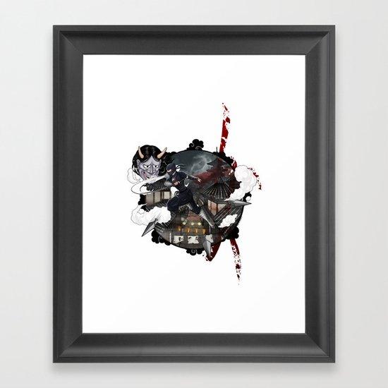 Kunoichi 3 of 4 Framed Art Print