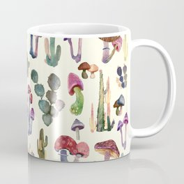 Cactus and Mushrooms Coffee Mug