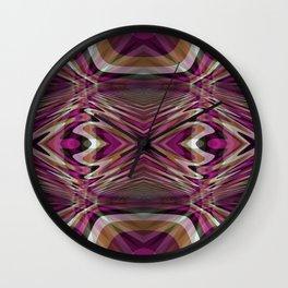 Interrupted Lines Mirror Pattern 2 Wall Clock