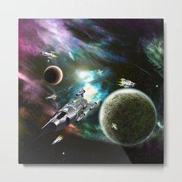 Space Fleet Metal Print