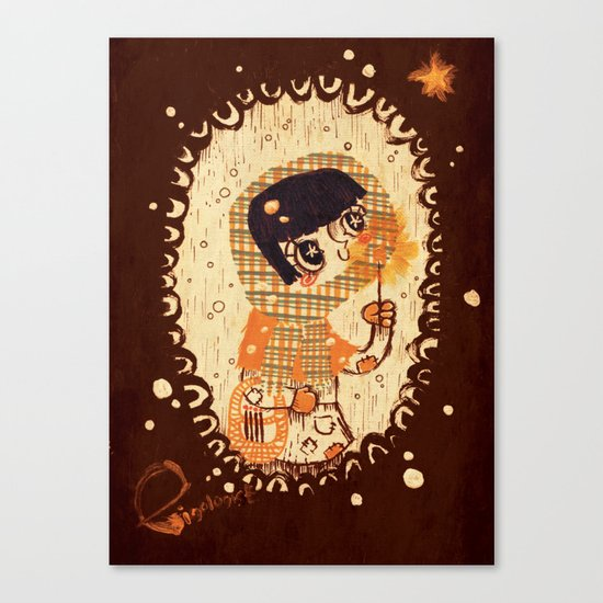 The Little Match Girl 卖火柴の小女孩 Canvas Print