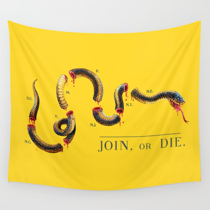 Join, or Die. Wall Tapestry
