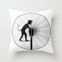 work hard Throw Pillows featuring Hard Work by siloto
