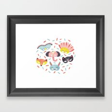 Confetti Framed Art Print