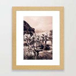 Cactus Portrait Framed Art Print