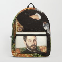 Gustave Caillebotte - Portrait of Richard Gallo Backpack