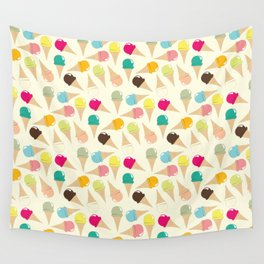 Ice Cream Pattern Wall Tapestry