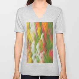 Tulip Field Abstract - Holland Michigan Unisex V-Neck