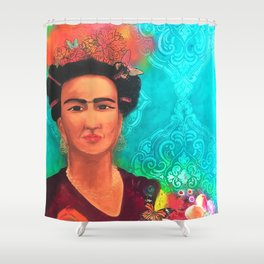 Frida Fragil y fuerte Shower Curtain