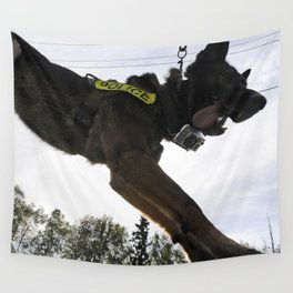 German Shepherd Police Dog Wall Tapestry