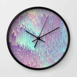 Iridescent Glitches Wall Clock