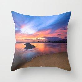 Paradise Sunset 8 Throw Pillow