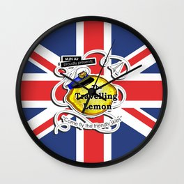 The Travelling Lemon - Union Jack edition Wall Clock