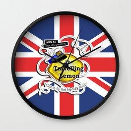 The Travelling Lemon - Union Jack edition Wall Clock