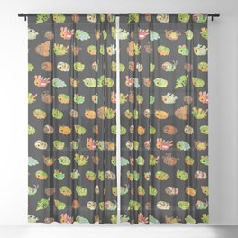 Caterpillar - dark Sheer Curtain