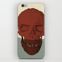 low poly iPhone & iPod Skins featuring Low poly skull by Elias Klingén