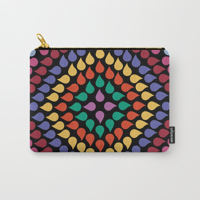 Seamless Colorful Raindrops Carry-All Pouch