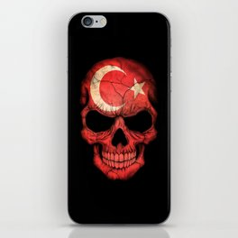 Dark Skull with Flag of Turkey iPhone Skin
