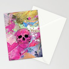 Skull collage Stationery Cards