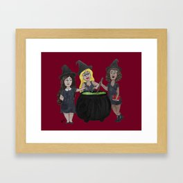 Witch, Please Framed Art Print