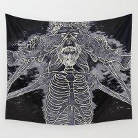 jesus Wall Tapestries featuring jesus fish by Alexander Kukinov