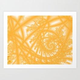 Venetian Lace in Gold Art Print