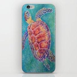 Sea Turtle Watercolor iPhone Skin