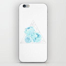 Blue Peonies (White) iPhone Skin