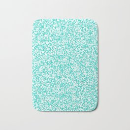 Tiny Spots - White and Turquoise Bath Mat