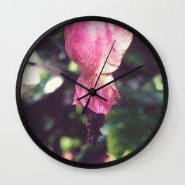 Rosa Puffs II Wall Clock