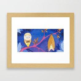 chouette chauve-souris Framed Art Print