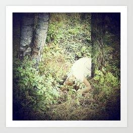 Melancholic Fairy Lost Her Wings In The Woods - n. IV Art Print
