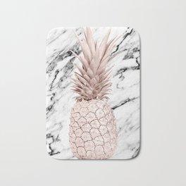 Pineapple Rose Gold Marble Bath Mat