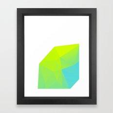 Neon Landscape 01. Framed Art Print