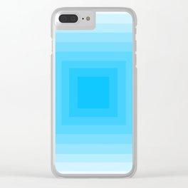 Blue Monochrome Clear iPhone Case