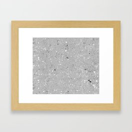 Gray Shine Texture Framed Art Print