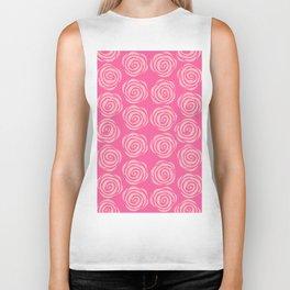 pink rose pattern Biker Tank