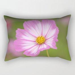 Pink and White Cosmos Rectangular Pillow