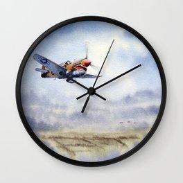 P-40 Warhawk Aircraft Wall Clock