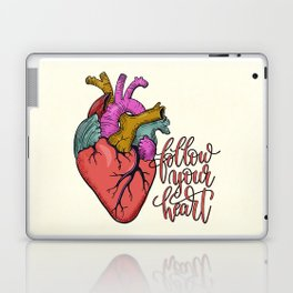 FOLLOW YOUR HEART - tatoo artwork Laptop & iPad Skin