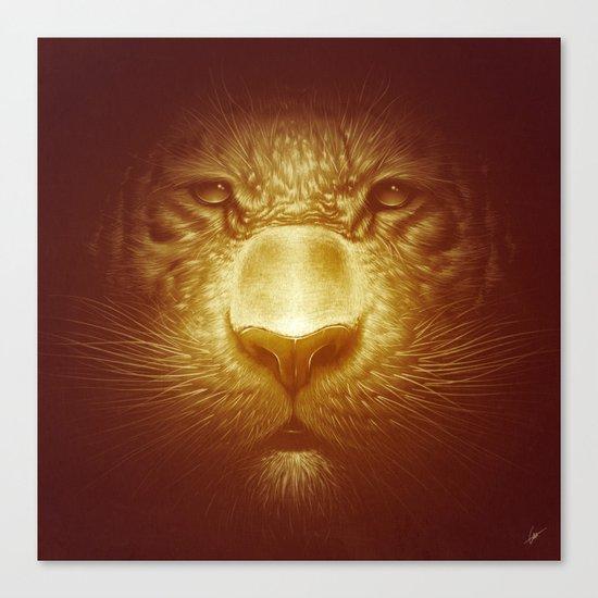 Gold Tiger Canvas Print