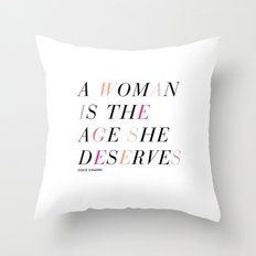 Age She Deserves Throw Pillow