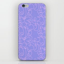 Curlicue two iPhone Skin