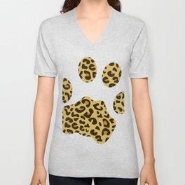 Cheetah Paw Print graphic, Leopard Tee, Safari print Unisex V-Neck
